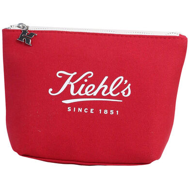 Red Kiehl's Canvas Pouch